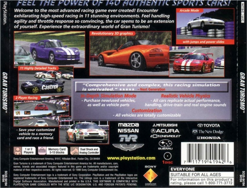Screenshot Thumbnail Media File 7 For Gran Turismo NTSC U